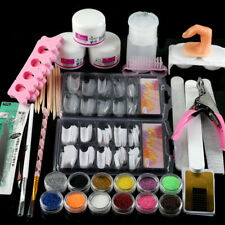 Acrylic Nail Art Tool Full Set Kit Powder Nail Sticker DIY Set Pump Nail Brush