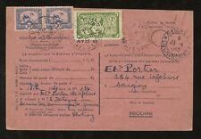 INDOCHINA VIETNAM 1949 RECEIPT of POSTING STATIONERY CARD PACKET SAIGON