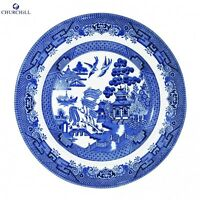 Churchill Earthenware 20cm Blue Willow Salad Plate Serveware Kitchen New