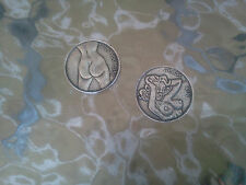 Your LUCKY GOOD LUCK 1 POCKET FUN PEWTER COIN Flip Heads or Tails All New.