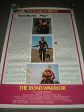 THE ROAD WARRIOR - STYLE C TIME REVIEW - ORIGINAL ROLLED POSTER - 1981
