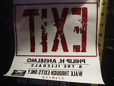 Phil Anselmo Walk Through Exits Only Promo New Window Cling Sticker PanterA