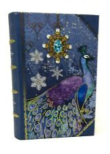 Punch Studio Gold Foil Nesting Book Box Blue Jewel Peacock 61674 Small