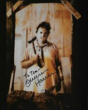 "GUNNAR HANSEN ""Leatherface"" Autographed 8 x 10 Signed Photo HOLO COA"