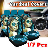 1/7 Pcs Universal Car Seat Covers Women Front & Rear Seat Covers Protection Set
