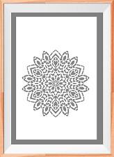 Mandala flower Pattern A4 Mylar Reusable Stencil Airbrush Painting Art
