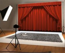 10*6Ft Vinyl Background Red Curtain Theater Photography Photo Backdrop Studio