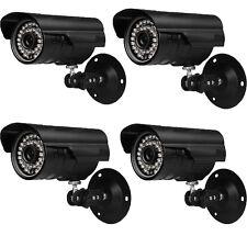 4 Pack 1200TVL HD Outdoor CCTV Surveillance Security Camera 36IR Day Night Video