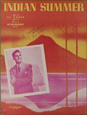 INDIAN SUMMER Dubin & Herbert DICK STABILE ORCHESTRA 1939 Sheet Music