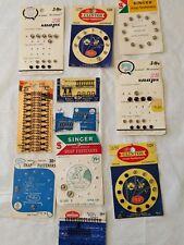 Vintage sewing snaps, hooks, eyes and loops