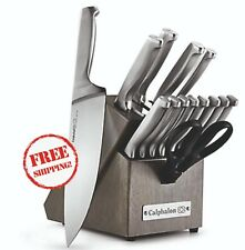 Knife Set Block Calphalon Self-Sharpening 15-Piece Cutlery Set Kitchen Cooking