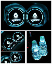 2PCS Colorful LED Car Cup Holder Pad Mat Auto Atmosphere Lights for Renault