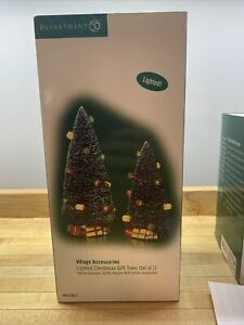 Department 56 Dept. 56 Village Accessories Lighted Christmas Gift Trees 56.53617