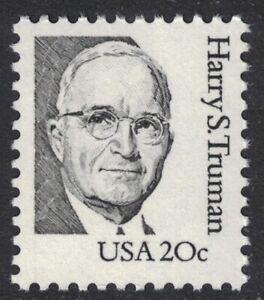 Scott 1862d, Shiny Gum (1993)- 20c Harry S. Truman- Great Americans- MNH- mint
