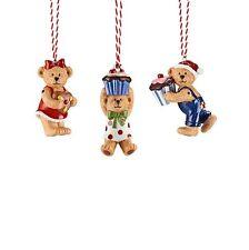 Hutschenreuther Weihnachten Candyland 3 Baumanhänger ''Teddys''Baumdekoration