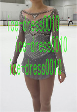 2018 new style Figure Skating Dress Ice Skating Sparkly Dress 8977
