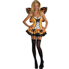 Secret Wishes Adult's Sexy Fantasy Butterfly Dress Halloween Costume Sz XSmall