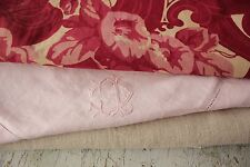 Vintage French fabrics antique material PROJECT BUNDLE pillow case + linen