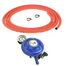 More details for clip on butane gas bottle regulator 21mm with 3m orange hose and clips 28mbar