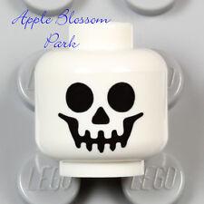 NEW Lego Skeleton Skull MINIFIG HEAD White w/Evil Black Eyes - Halloween Monster