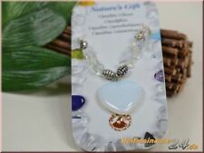 Markenlose Modeschmuck-Halsketten aus Glas mit Herz-Schliffform