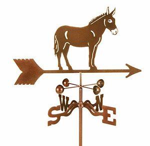 Mule Weathervane - Donkey - Horse - Burro - Vane - Complete with Choice of Mount