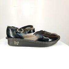 B48 Alegria MAD-101 Black Patent Leather Mary Janes Size 38/US 7.5 Womens Shoes