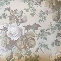 Vintage Wallpaper Floral Ivy Neutral Soft Colors