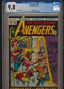 MARVEL COMICS AVENGERS #99 1972 CGC 9.8 WP BUSCEMA & WINDSOR-SMITH COVER