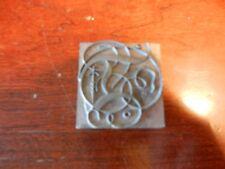 Vintage Letterpress Foundry Lead Printing Type 120 Pt Fancy Script Initial D