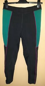 "Dublin Performance Flex Zone Womens Riding Tights. Size 12/30"" Navy / Lake."