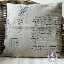 #10635 Kissenhülle 40x40cm Leinen Schrift Brief Shabby Chic Landhaus
