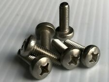 M6-1.0 x 18mm Phillips Pan Head Machine Screw 18-8 Stainless Steel (QTY-25) A2