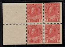 Canada Sc 109a 1923 3 c car G V Admiral issue bklt pane of 4 mint Free Shipping