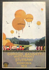 Mint Stuttgart Germany Picture Postcard PPC Gordon Bennett Balloon Exhibition