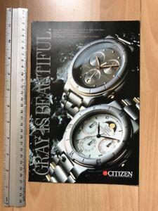 Citizen 1988 Advertisement Pub Ad Werbung