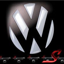 Weisse Hochglanz 3D Aufkleber Sticker Dekor für VW Emblem VW POLO 6R GTI R TSI