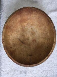 Antique Munising Large Wooden Maple Oval Bowl