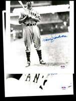 Travis Jackson PSA DNA Coa Hand Signed 8x10 Photo Giants Autograph