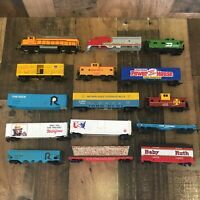Vintage Bachmann HO Scale Train Locomotive Freight Cars Lot - For Parts/repair