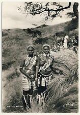 S Africa WOMEN IN FESTIVE DRESS / FRAUEN MIT NACKTER BRUST * 60s Ethnic Nude PC