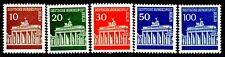 Germany Brandenburg Gate Berlin Issues Complete Set 5 MNH Scotts  9N251 to 9N255