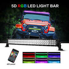"""Auxbeam V-Series LED Light Bar 42"""" 240W Combo Curved RGB Strobe Controlled 5D"""