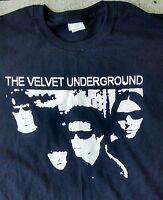 Velvet Underground Lou Reed vintage style t shirt punk NYC sm-5xlg sq logo blk