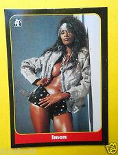 figurines chromos figurine masters cards #50 iman 1993 model moda modelle cinema