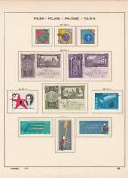 poland 1961 rowing + others stamps page ref 17271