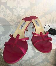 JIMMY CHOO Pink Leather Sandal Heels Sz 41/US 11 $595