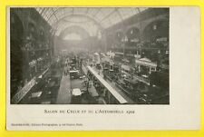 Carte Postale Très RARE 75 PARIS SALON du CYCLE et de l'AUTOMOBILE 1902 Car Show