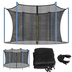 Trampoline Enclosure Net Replacement For Round Trampoline Using Poles And Arches