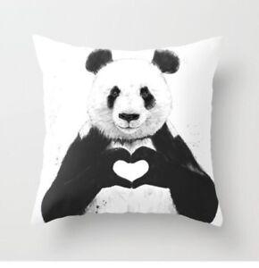 Cushion Pillow Cover Panda Cute Animal Funny 18'*18' UK stock